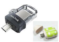 SanDisk 16GB OTG Ultra Dual microUSB 16G USB 3.0 Pen Drive SDDD3-016G+T01 reader