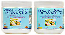 Organic 100% Virgin Coconut Oil Manila Coco NUTRIENT DENSE ENERGY FUEL 2x16=32oz