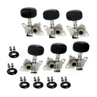3L3R Classical Guitar String Tuning Pegs Tuners Keys Machine Heads Nickel Black