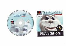 YETISPORTS DELUXE - SONY PLAYSTATION 1 PS1 GAME / PS2 PS3 COMPATIBLE - D&M - VGC