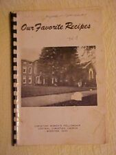 Cookbook, OUR FAVORITE RECIPES by Christian Women's Fellowship, Wooster, Ohio