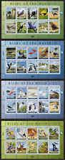 MARSHALL ISLANDS, SCOTT # 1043 & 1056-1058, SET OF 4 SHEETS BIRDS OF THE WORLD