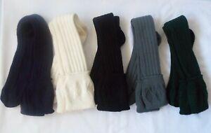SCOTTISH WOOL BLEND KILT SOCKS FOR MEN'S WHITE,CREME,BLACK,GREEN,GREY,