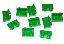 LEGO 10 Green Brackets 1 x 2 - 1 x 2 Inverted 10246