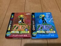 Legend of Zelda Oracle of Seasons and Ages with BOX and Manual japan Gameboy Z99