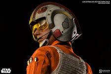 """Sideshow 1/6 12"""" Star Wars Luke Skywalker Red Five X-wing Pilot Figure"""