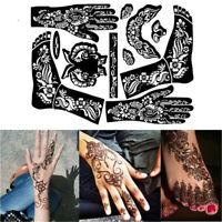 Stencils Tattoo Sticker Hand Art Stickers Tattoo Temporary Henna Template