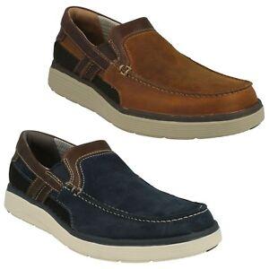 Hombre Clarks sin Estructura Cordones Ligero Casual Zapatos Talla Un Abode Libre