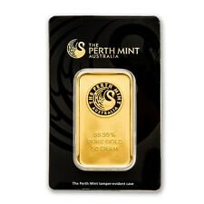 50 gram Gold Bar - Perth Mint (In Assay) - SKU #78887