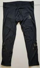 Adidas Alphaskin Sport Mens XXL Black Athletic 3-Stripe Tights Pants Training