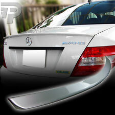 PAINTED Mercedes BENZ W204 SEDAN A BOOT TRUNK SPOILER 775 SILVER ▼