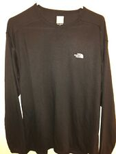 The North Face Vapor Wick Mens Black 100 Polyester Long Sleeve Shirt Size Large