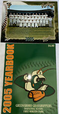 Greensboro Grasshoppers 2005 Yearbook And Team Photo