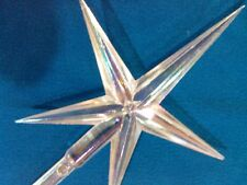 Iridescent Clear  Ceramic Christmas Tree  Aurora  Star  VINTAGE REPLACEMENT