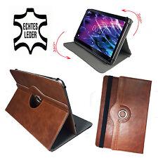 9.6 pulgadas marrón Echt Leder funda-samsung tab e Bookcase bolso de cuero
