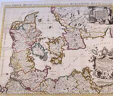 Nova Daniae Regni Karte Map Jaillot 1696 Original Kupferkarte Dänemark Denmark