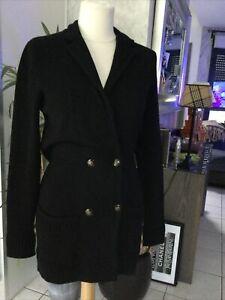 Veste gilet long THE KOOPLES taille S/M noir laine tres bon etat 265€