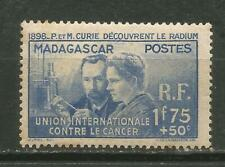 Madagascar Scott #B2 MH Curie 1938