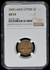 1858 AU53 Flying Eagle One Cent Penny Large Letters 1C NGC Graded 4697321-002