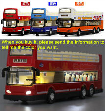18cm London Double Deck Bus City Sightseeing Sound Light Model Toys X1PC Gift