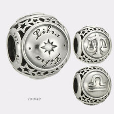 BID * NEW Authentic Pandora Sterling Silver Libra Star Sign Charm #791942