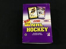 1991-92 Score Hockey 36 Factory Sealed Pack Box with Exclusive Bobby Orr Cards