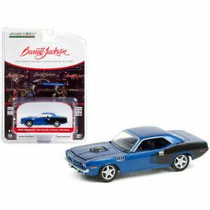 Greenlight 1:64 Barrett Jackson 7 1970 BLUE Plymouth Barracuda Model Car 37230 C
