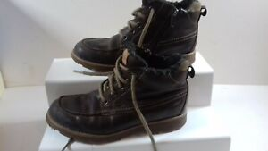 clarks brown boots size 1g