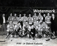 NHL 1930 - 31 Detroit Falcons Red Wings Team Picture 8 X 10 Photo Picture