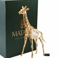 Matashi 24K Gold Plated Crystal Giraffe Animal Ornament For Children's Room
