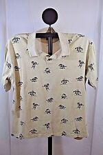 Warner Bros. Studio Store Taz Golfing Polo Shirt SS XL Cotton Khaki