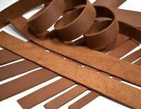 SECONDS: Brown Oil-Tanned Leather (5-6oz Medium Weight) Strap Strip LeatherRush