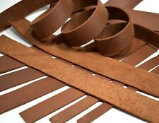 SECONDS: ONE Brown Cowhide Leather (Med Wgt) Strip Strap (5-6oz=5/64