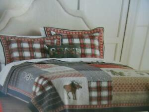 NIP ST. NICHOLAS SQUARE HOLIDAY COLLECTION REVERSIBLE JOY KING CHRISTMAS QUILT