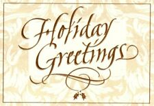 Elegant Holiday Greetings Gold Foil Ivory Hallmark Greeting Cards - Set of 17