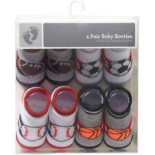 4 Pack Infant Baby Boys Assorted Sports Socks Set 0-9 Months