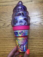 New Lisa Frank Cosmetic Set Ice Cream cone bank Glitter Tattoos Stickers