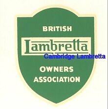Shield Badge BLOA British Lambretta Owners Accosciation Waterslide (1FB123)