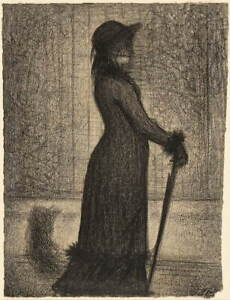 Georges Seurat French Woman Strolling Giclee Art Paper Print Poster Reproduction