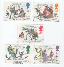 GB Stamps SG1790-1794, 1993 Christmas150th Anniv Complete set VFU FDI