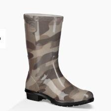 New UGG Raana Camo Slate Rain Waterproof Boots Boy's Sz 4