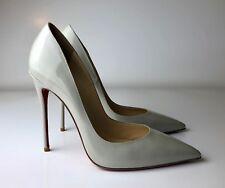 Christian Louboutin So Kate 120 Gray Patent Pumps Heels Euro 40