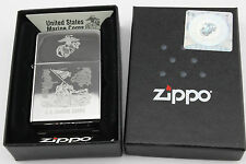 Genuine Zippo Lighter, Licensed By US Marines, WWII Commemorative Lighter