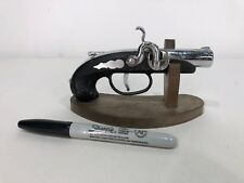 RARE Vtg Novelty Table Mini GUN Cigarette LIGHTER Retro Desk Model Fake JAPAN
