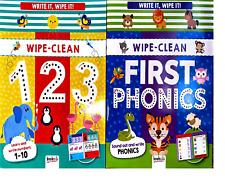 Wipe Clean Books 3+ Write it, Wipe it First Numbers & First Phonics Preschool