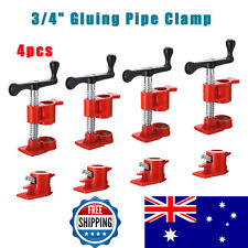"""4 Sets 3/4"""" Gluing Pipe Clamp Woodworking Vice Hand Tool Wide Glue Clamp Surface"""
