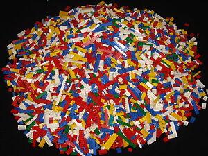 Lego 200 Basic Steine Hoch Bausteine Grundsteine gemischt Rot Blau Gelb Schwarz