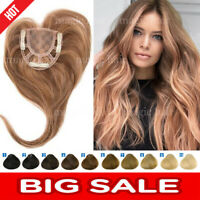 THICK Mono Silk Base 100% Remy Human Topper Hairpiece Toupees For Loss Hair P275