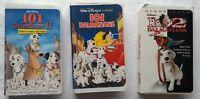 101 Dalmatians 102 Dalmatians Patch's London Adventure Disney VHS Tapes Lot