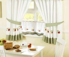 Rideaux et cantonnières panneaux blancs pour la cuisine